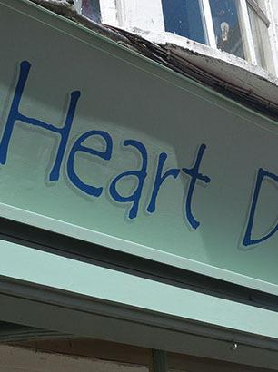 Heart Deco - signwriting Weymouth